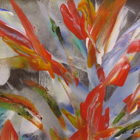 Bloemen schilderijen atelier herman mes hedendaagse for Schilderijen van bloemen